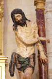 Estatua de Jesús en Viernes Santo en la catedral de Burgos imagen de archivo libre de regalías