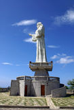 Estatua de Jesus Christ en Nicaragua sobre el San Juan del Sur Imagen de archivo
