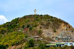Estatua de Jesus Christ en Nui Lon Big Mountain Vung Tau, Vietnam Foto de archivo