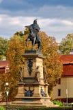 Estatua de Jiri z Podebrad Imagen de archivo libre de regalías