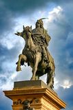 Estatua de Jiri z Podebrad Imagenes de archivo