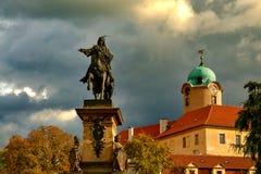 Estatua de Jiri z Podebrad Fotografía de archivo libre de regalías