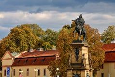Estatua de Jiri z Podebrad Imágenes de archivo libres de regalías