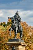 Estatua de Jiri z Podebrad Imagen de archivo