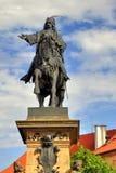 Estatua de Jiri z Podebrad Fotografía de archivo
