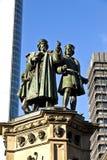 Estatua de Johannes Gutenberg, Foto de archivo