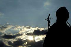 Estatua de John Paul Ii de la papá imagen de archivo