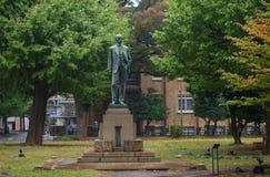 Estatua de Josiah Conder en la universidad de Tokio imagen de archivo