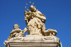 Estatua de Juan de Nepomuk Imagen de archivo libre de regalías