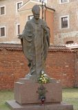Estatua de Juan Pablo II Foto de archivo libre de regalías