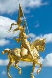 Estatua de Juana de Arco en el museo de arte de Philadelphia Foto de archivo