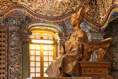 Estatua de Khai Dinh del emperador Foto de archivo libre de regalías