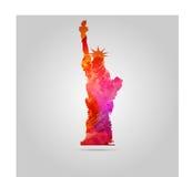Estatua de la acuarela del icono del vector de la libertad Imagenes de archivo