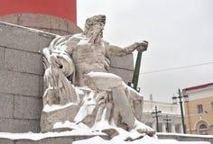 Estatua de la alegoría del río de Dnieper fotos de archivo libres de regalías