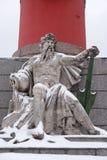 Estatua de la alegoría del río de Dnieper fotografía de archivo