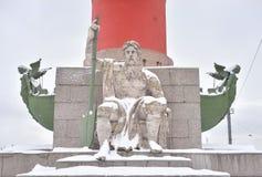 Estatua de la alegoría del río de Dnieper foto de archivo libre de regalías