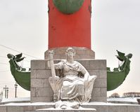 Estatua de la alegoría del río Volga foto de archivo