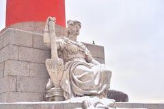Estatua de la alegoría del río Volga imagen de archivo libre de regalías