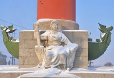 Estatua de la alegoría del río Volga fotografía de archivo libre de regalías