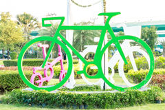 Estatua de la bicicleta Fotografía de archivo libre de regalías