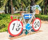 Estatua de la bicicleta Foto de archivo libre de regalías