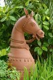 Estatua de la cabeza de caballo Imagen de archivo libre de regalías