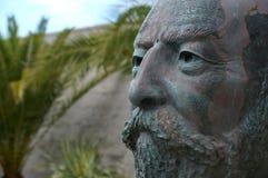 Estatua de la cabeza de un hombre Foto de archivo libre de regalías