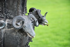 Estatua de la cabra Fotografía de archivo