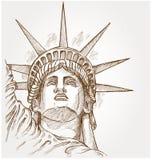 Estatua de la cara de la libertad libre illustration