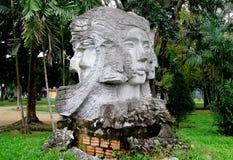 Estatua de la cara de la mujer Fotos de archivo