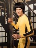 Estatua de la cera de Bruce Lee fotos de archivo