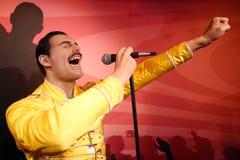 Estatua de la cera de Freddie Mercury fotos de archivo