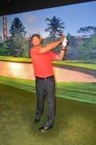 Estatua de la cera de Tiger Woods foto de archivo libre de regalías