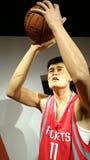 Estatua de la cera de Yao Ming Imagenes de archivo