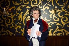 Estatua de la cera de Ludwig van Beethoven, Viena de señora Tussaud imagenes de archivo