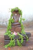 Estatua de la cobra en templo hindú Templo de Varkala Foto de archivo libre de regalías