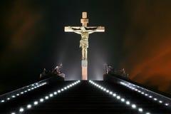 Estatua de la crucifixión Imagen de archivo libre de regalías