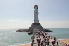 Estatua de la diosa de Guanyin en Hainan fotografía de archivo libre de regalías