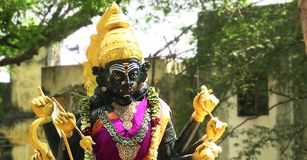 Estatua de la diosa hindú Fotos de archivo libres de regalías
