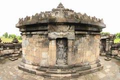 Estatua de la diosa Saraswathi en el templo hindú Sambisari imágenes de archivo libres de regalías