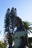Estatua de la emperatriz austrohúngara Elizabeth en Funchal Madeira Imagenes de archivo