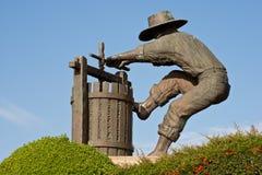 Estatua de la entrada del país vinícola de Napa Valley Imagenes de archivo