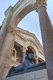Estatua de la esfinge en el palacio del Diocletian en fractura Fotografía de archivo libre de regalías