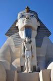 Estatua de la esfinge, hotel de Luxor Foto de archivo libre de regalías