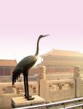 Estatua de la grúa, palacio prohibido Fotos de archivo