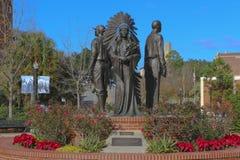 Estatua de la integración y de la diversidad en la universidad de estado de la Florida Fotos de archivo libres de regalías