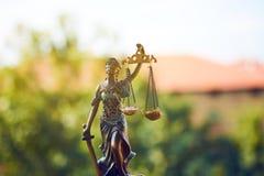 Estatua de la justicia Closeup Fotos de archivo libres de regalías