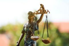 Estatua de la justicia Closeup Fotos de archivo