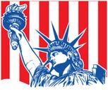 Estatua de la libertad con la antorcha ilustración del vector