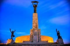 Estatua de la libertad en Budapest Fotos de archivo